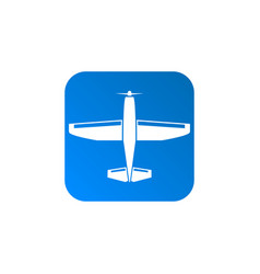 light aircraft icon vector image
