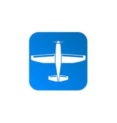 Light aircraft icon vector