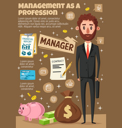 Manager businessman and office clerk vector