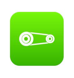 Mechanic belt icon digital green vector