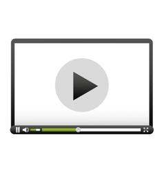 media player control panel icon vector image