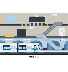 Metro in flat design city vector
