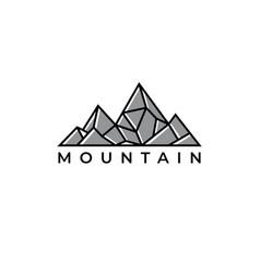mountain logo design templatecreative stones icon vector image