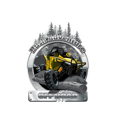 Off-road atv buggy logo bush adventute vector