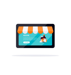 Online pharmacy concept in flat style vector
