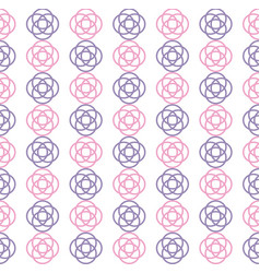 Overlaped circle repeating seamless pattern design vector