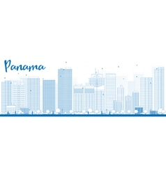 Panama outline vector