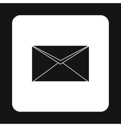 Paper letter icon simple style vector