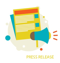 Press Release vector image