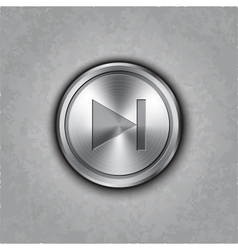 round metal forward rewind button vector image