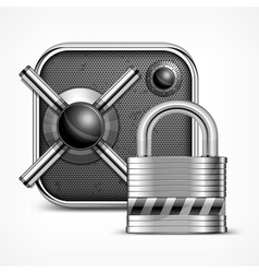 Safe icon padlock vector image