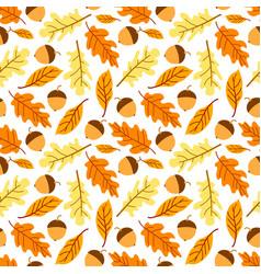 seamless autumn leaf pattern vector image