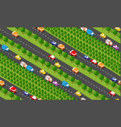 seamless city map pattern isometric structure vector image