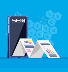 Search engine optimization with smartphone vector