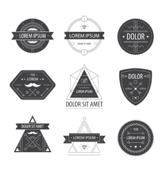 set hipster modern labels icons vector image