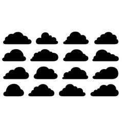 set of different clouds vector image