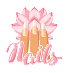 Spa care for hands and nails vector