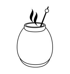 Tea beverage icon image vector