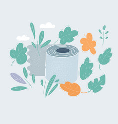toilet roll paper on white vector image