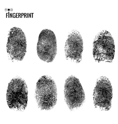 fingerprint set vector image vector image