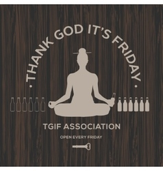 Happy Friday thank God it is Friday vector image