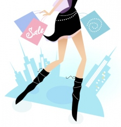lady shopping vector image vector image
