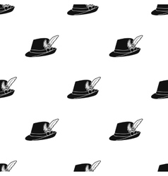 Tyrolean hat icon in black style isolated on white vector image vector image