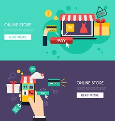 Concept online shopping and e-commerce Icons for vector image