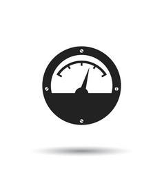 electric meter icon power meter flat on white vector image vector image