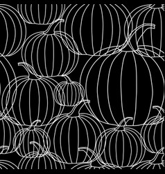 halloween background - white line pumpkin on vector image vector image