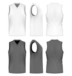 Men sport training sleeveless t-shirt vector image vector image