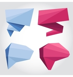 Speech bubbles origami vector image