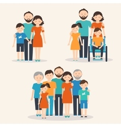Families of Different Types Flat vector image vector image