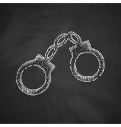 handcuffs icon vector image