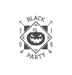 Halloween 2016 black party invitation label vector image happy halloween 2016 black party invitation label vector image stopboris Images