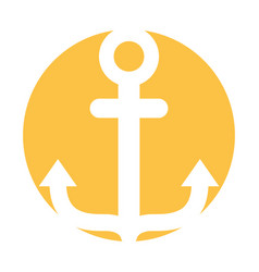 marine anchor isolated icon vector image vector image