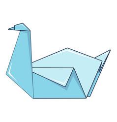 origami swan icon cartoon style vector image