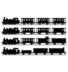 Vintage steam trains vector