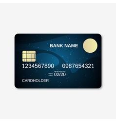 Bank card design template vector image vector image