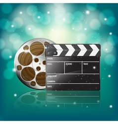 clapper and film vector image