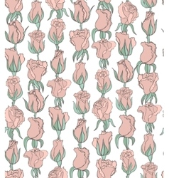floral background with tender pink roses vector image vector image