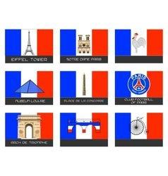 Paris destination traveler vector image vector image