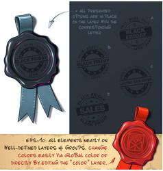 Wax seal - black friday sales vector