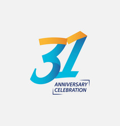 31 year anniversary celebration template design vector
