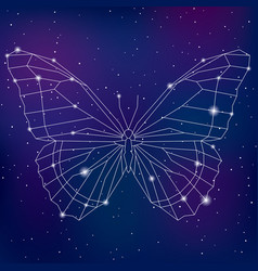 abstract geometric polygonal cosmic butterfly vector image