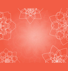Abstract pink background with tribal floral vector