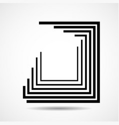 abstract square logo with lines geometric sign vector image