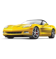 American luxury sports car vector