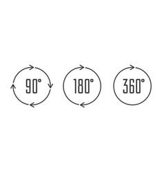 Angle degrees circle icons vector