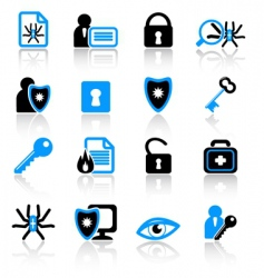 Antivirus icons vector